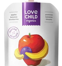Love Child Organic Puree Apple Bananas (128 ml)