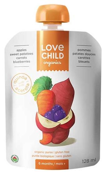 Love Child Organic Puree Apple Sweet Potato (128ml)
