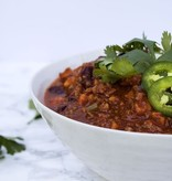 Turkey Chili With Roasted Sweet Potatoes