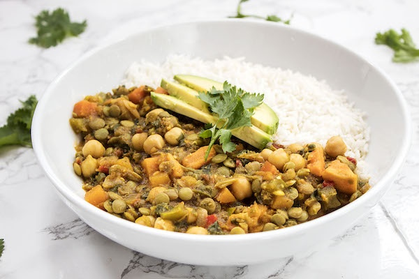 Lentil Curry Vegetarian Dinner (Serves 2)