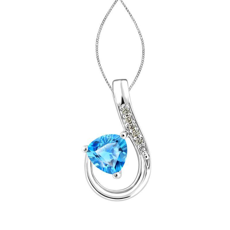 Blue Topaz and Diamonds