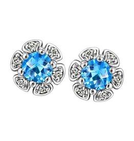 Blue Tpaz & Diamonds