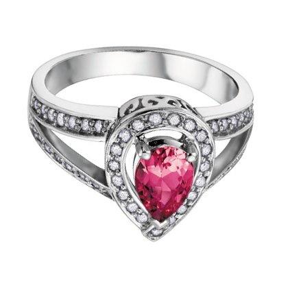 Pink Tourmaline & Diamonds