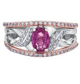 Pink Sapphire & Diamonds