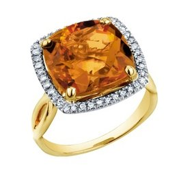 Citrine & Diamonds