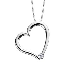 I am Canadian White Gold (0.03ct) Canadian Diamond Heart Pendant