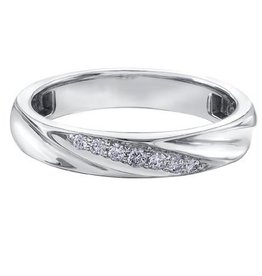 Ladies White Gold (0.10ct) Diamond Band