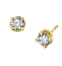 Studs (0.20ct) Yellow Gold Screwbacks