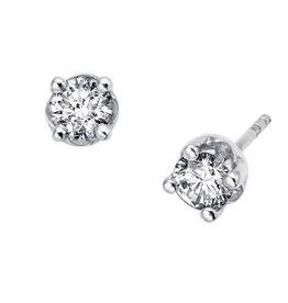 Studs (0.10ct) White Gold Screwbacks