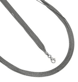 Multi Strand Sterling Silver Necklace