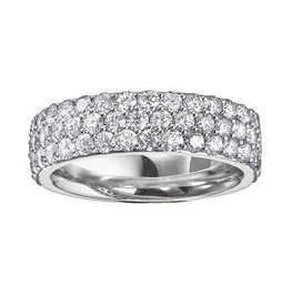 White Gold (0.50cttw) Pavee Set Diamond Band