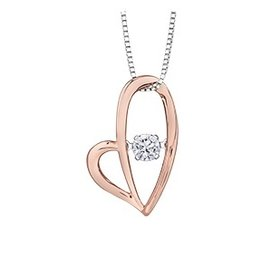 Rose Gold (0.12ct) Dancing Diamond Pendant