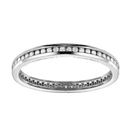 White Gold (0.25cttw) Channel Set Diamond Eternity Band