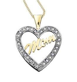Diamond Mom Heart