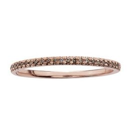 Brown Diamonds (0.10ct) Rose Gold Band