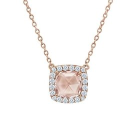 Lafonn Halo Necklace (Morganite)