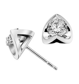 Half Moon (0.50ct) Diamond Studs