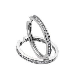 Diamond Hoops (0.10ct) White Gold