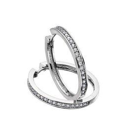 Diamond Hoops (0.50ct) White Gold