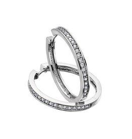 Diamond Hoops (0.75ct) White Gold