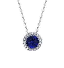 Lafonn Halo Necklace (Blue)