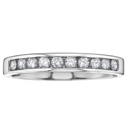 White Gold (0.10ct) Diamond Anniversary Band