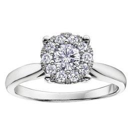 White Gold (0.06ct) Starburst Diamond Ring