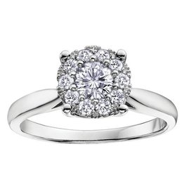 White Gold (0.13ct) Starburst Diamond Ring