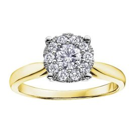 Yellow Gold (0.06ct) Starburst Diamond Ring