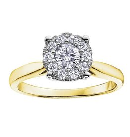 Yellow Gold (0.08ct) Starburst Diamond Ring