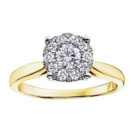 Yellow Gold (0.09ct) Starburst Diamond Ring