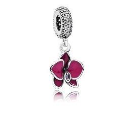 Pandora Dangle Orchid Purple