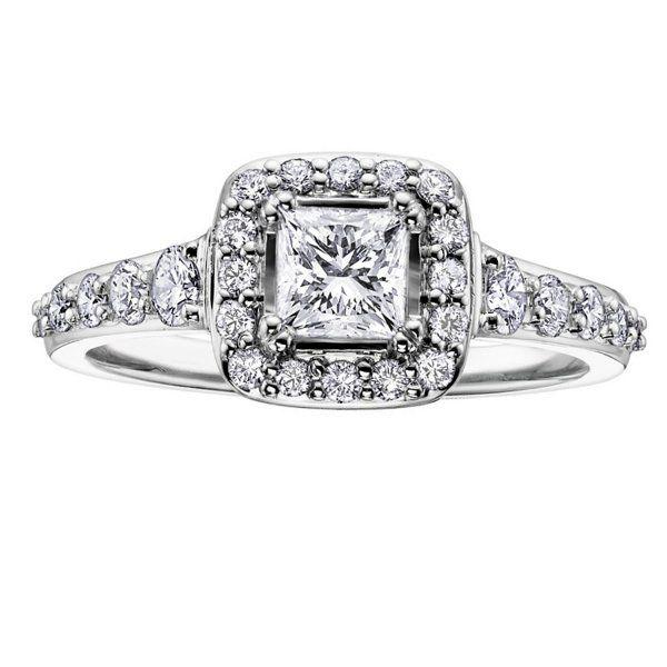 Maple Leaf Diamonds Halo Princess-ML118 (1.00ct) Canadian