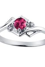 Pink Tourmaline & Diamond