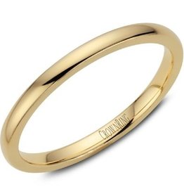 Yellow Gold Dome Band (2mm) Size 5