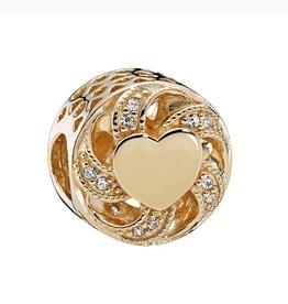 Pandora Ribbon Heart