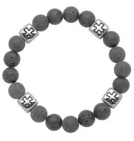 Steelx Steel/Lava Beads