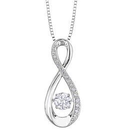 White Gold (0.30ct) Dancing Diamond Pendant