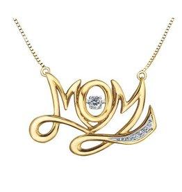 Diamond Mom Pulse Necklace