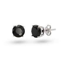 Studs Round Black CZ (6mm)