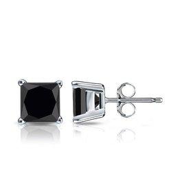 Studs Square Black CZ (4mm)