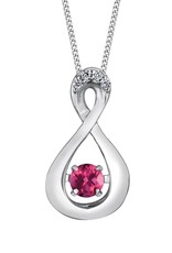 Pink Topaz & Diamonds