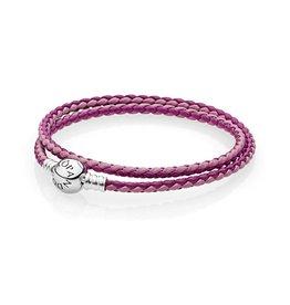 Pandora 590747CPMX - Mixed Pink Leather