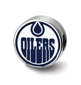 Edmonton Oilers Sterling Silver Bead Charm