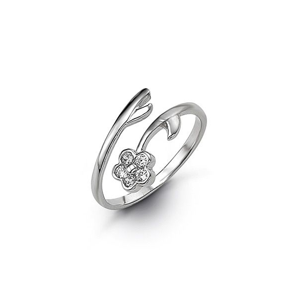 Buy White Gold Cubic Zirconia Toe Ring Online In Canada