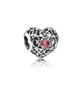 Pandora 791784A -  Heart, Garnet