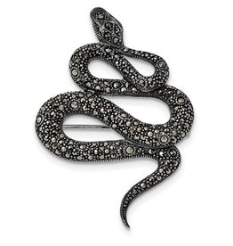 Antiqued Snake Pin