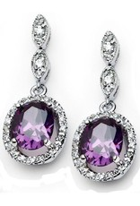 Purple CZ Earrings