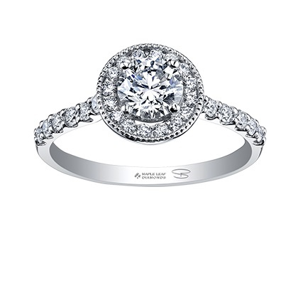 Buy Maple Leaf Canadian Diamond Engagement Ring Online In