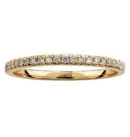 Yellow Gold (0.10cttw) Pavee Set Diamond Band